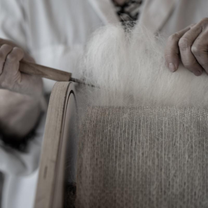 Cardando la lana, Soledad Santisteban